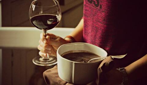 zuppa di fagioli al vino
