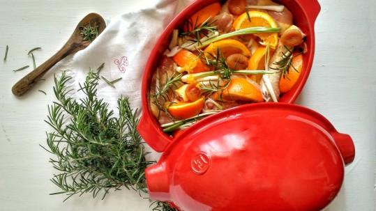 pollo e arance